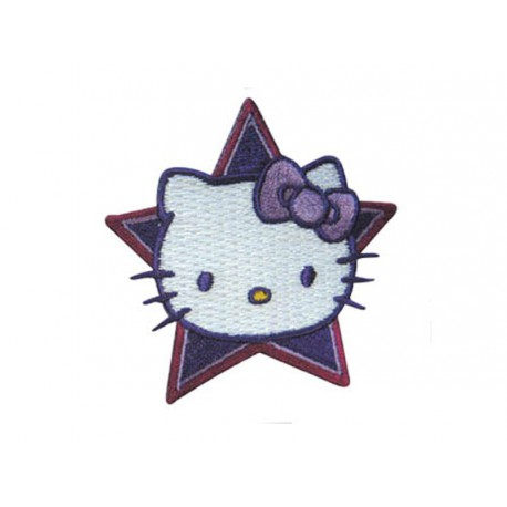 Ecusson Hello Kitty - Visage avec c?oeur