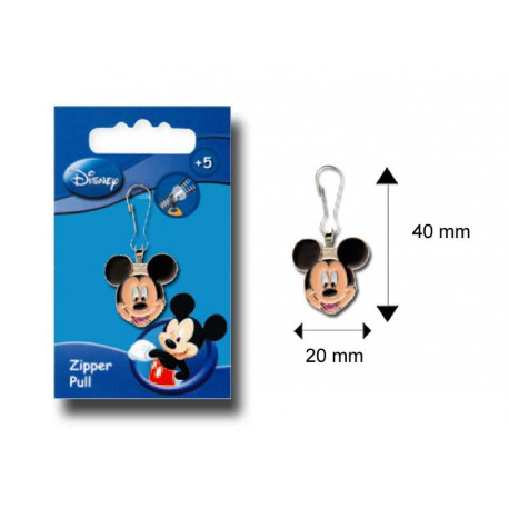Tirette Fashion métal motif Mickey Mouse tête