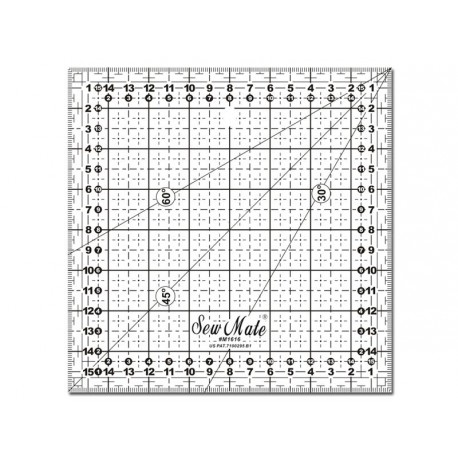 Règle universelle avec angles patchwork Sewmate