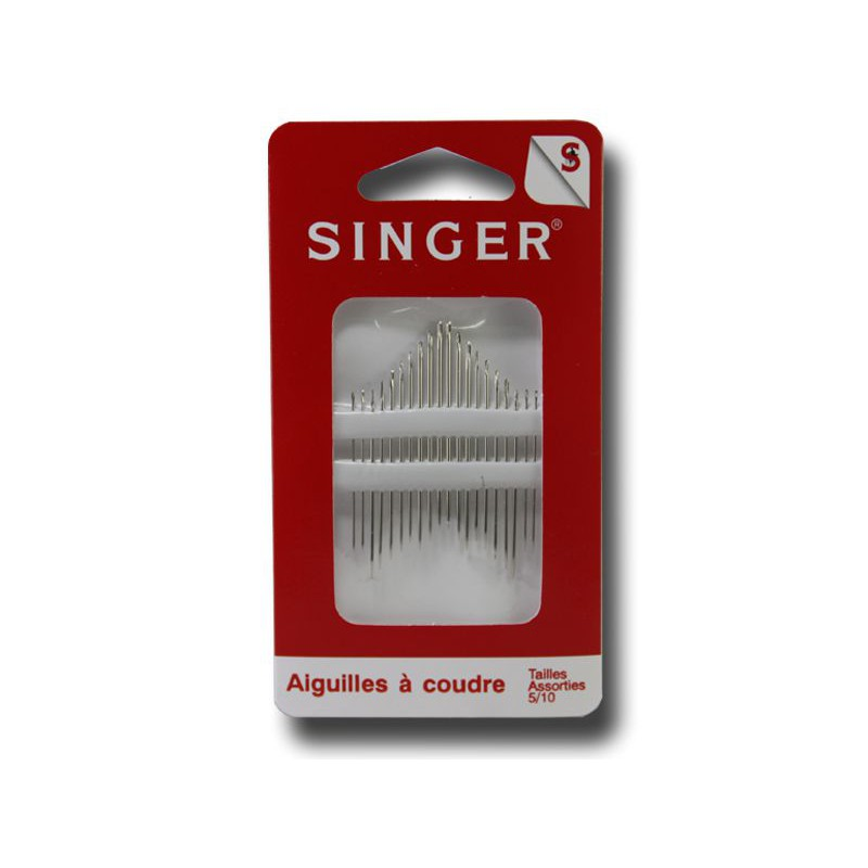 Aiguilles coudre main singer tailles assorties 5 10 for Coudre a main