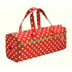 SAC A OUVRAGE POLKA POIS ROUGE BLANC