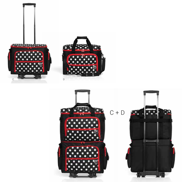 trolley de transport pour machine coudre polka coutureo. Black Bedroom Furniture Sets. Home Design Ideas